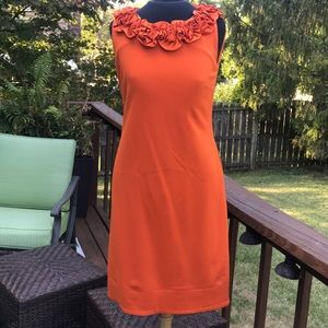 Taylor dress size 6 orange